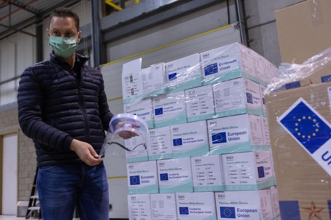 RescEU medical stockpile in Meer, Belgium, one of nine EU countries currently hosting strategic supplies