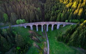 Bridge in the green valley