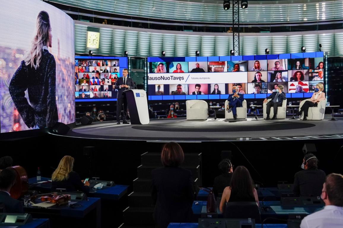Het evenement bracht de voorzitters van de EU-instellingen, President Macron, de covoorzitters van het bestuur en burgers uit heel Europa samen.