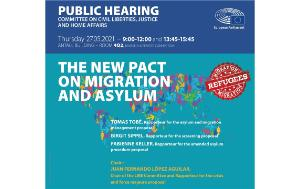 Hearing on the new pact for Migration and Asylum
