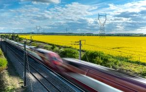 High speed train in the North of France