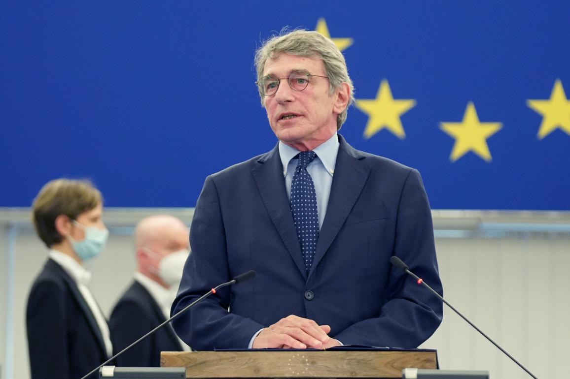 President Sassoli opened the June I plenary session in Strasbourg   © European Union 2021 - EP