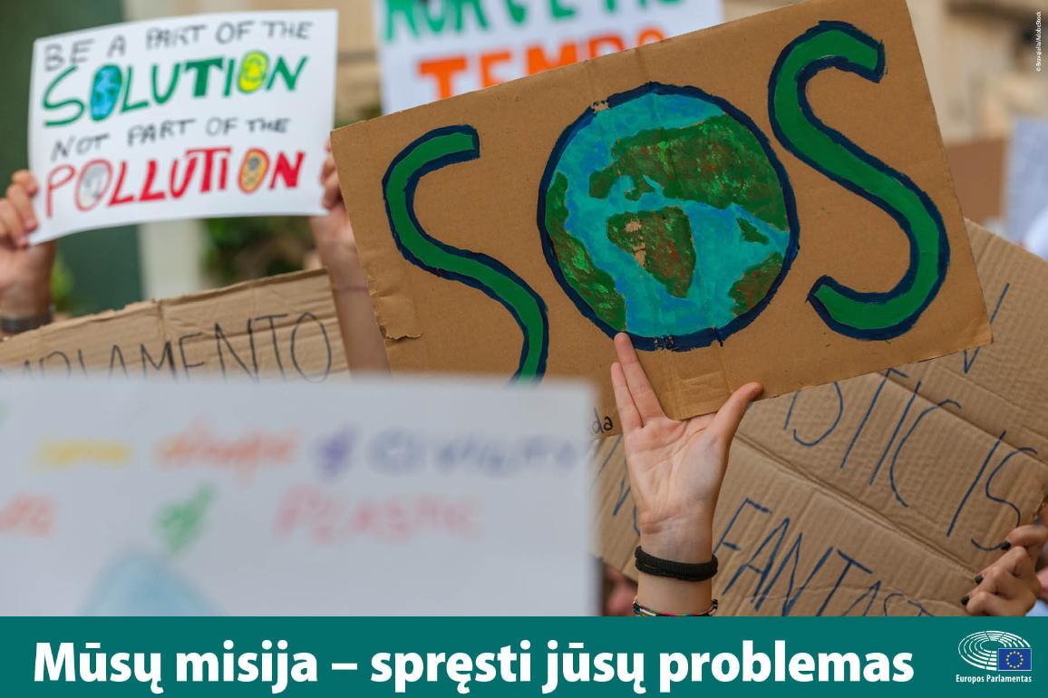 Kova su klimato kaitq yra ES prioritetas