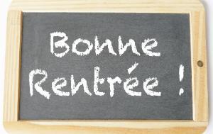 blackboard with Bonne rentrée written on it