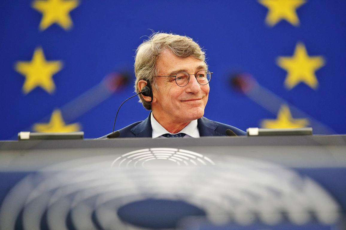 President Sassoli opened the September plenary session in Strasbourg © European Union 2021