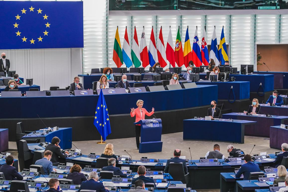In the debate on the State of the EU, MEPs took stock of the EU's response to the COVID-19 crisis and the challenges ahead © European Union 2021