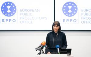 Ms Laura Kövesi, European Chief Prosecutor of the European Public Prosecutor's Office, standing on a podium