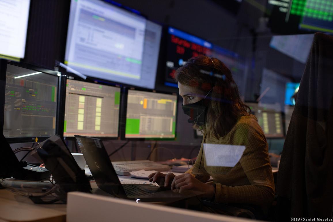 The number of malicious cyber operations has risen in recent years ©ESA/Daniel Mesples©ESA/Daniel Mesples