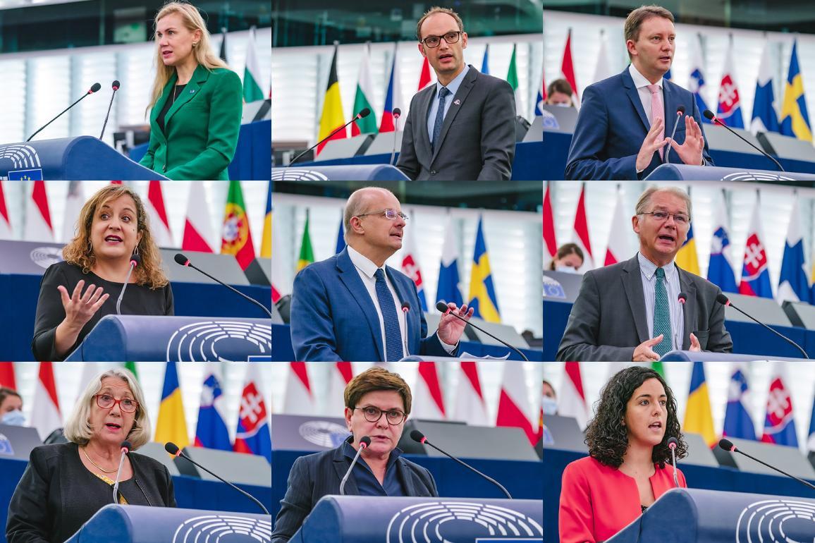 Alcuni degli oratori durante il dibattito sull'aumento dei prezzi dell'energia a Strasburgo.