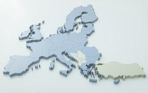 Map of european union very high detail