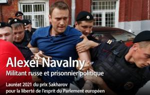 Communiqué de presse - Alexeï Navalny reçoit le Prix Sakharov 2021 du Parlement européen