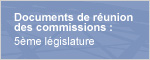Documents de réunion  des commissions