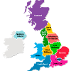 Regions of the UK: 