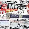 collage of UK's  newspapers