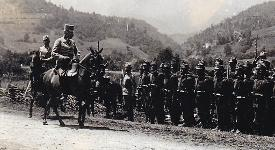 Archduke Franz Ferdinand inspecting his troops in Sarajevo on 27 June 1914, the day before his assassination. 