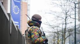 Soldier near to an EU venue