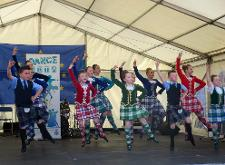 Ceilidh dancing at the Europe Day event