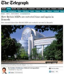 Daily Telegraph - How British MEPs are outvoted time and again in Brussels