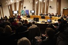 Attendees at the TTIP summit held at the Scottish Parliament
