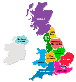 regions of the uk north east comprises hartlepool stockton on tees county