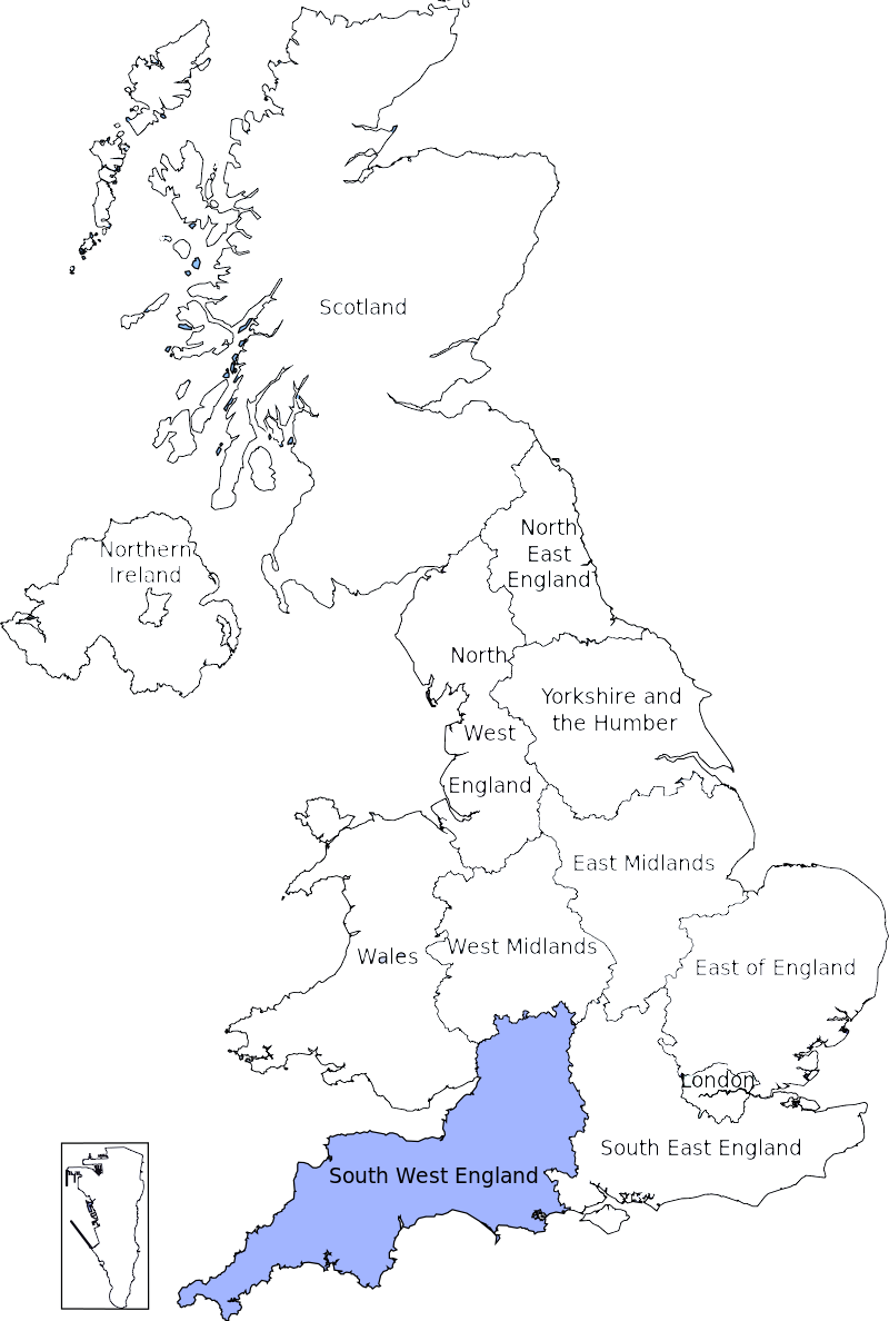 Map Of England Gloucestershire.South West Region 6 Meps Meps Elections European Parliament