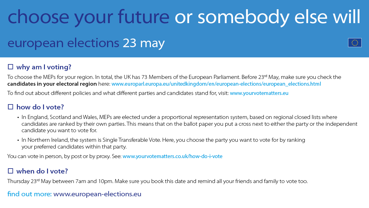 European elections campaign materials | MEPs & Elections